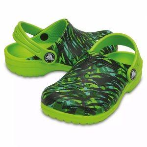 Crocs Kids C4 Classic Graphic K Volt Green Clog